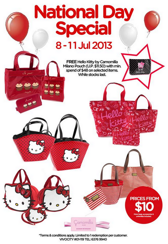 Camomilla Milano National Day Special - Free Hello Kitty Gift (Till 11 Aug 2013)