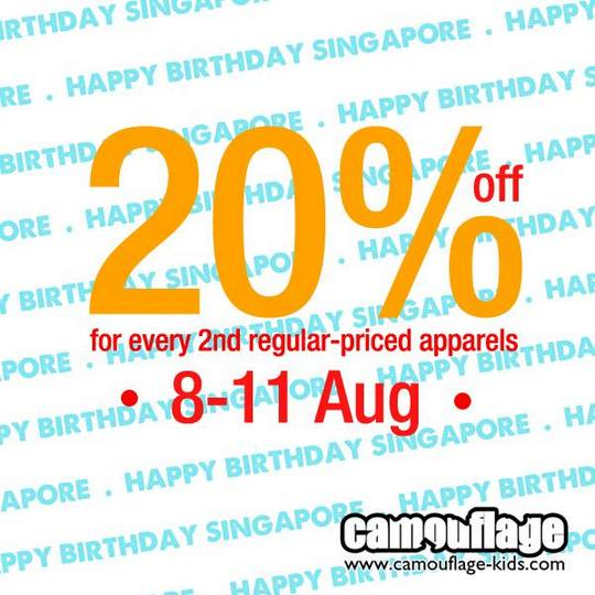 Camouflage Kids National Day Promotion (Till 11 Aug 2013)