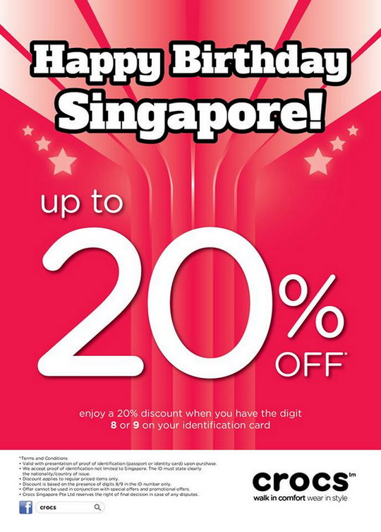 Crocs National Day Promotion - Up To 20 Off (Till 11 Aug 2013)