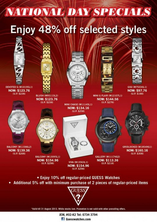 Guess Watches National Day Special @ JEM