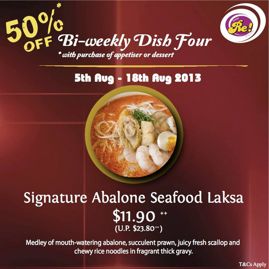 Hotel Re! Promotion - 50 Off Signature Abalone Seafood Laksa