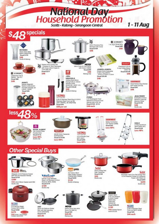 Isetan National Day Household Promotion (Till 11 Aug 2013)