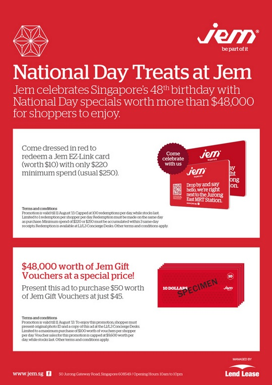 JEM National Day Treats 2013