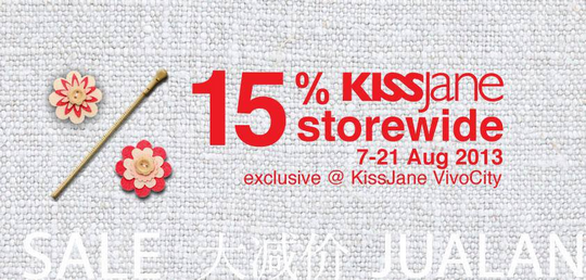 KissJane Storewide Sale - Enjoy 15 Off (Till 21 Aug 2013)