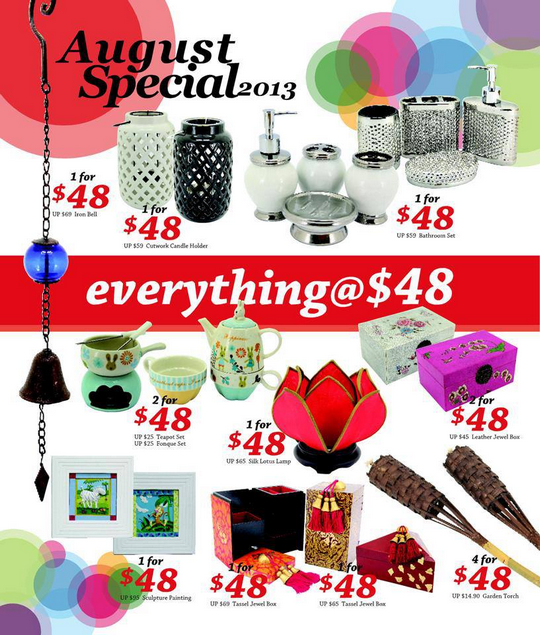 Lims Arts and Living August Special - Everything @ $48