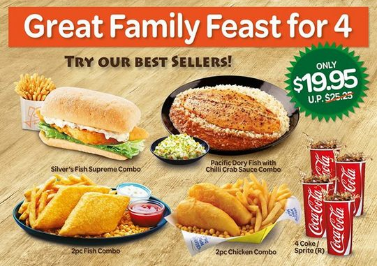 Long John Silvers Family Feast @ $19.95