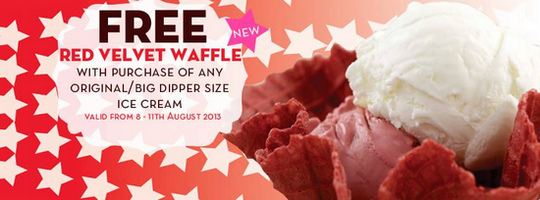 Marble Slab Creamery Free Red Velvet Waffle Deal (Till 11 Aug 2013)