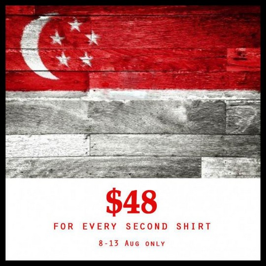 Marcella $48 On Second Shirt National Day Promotion