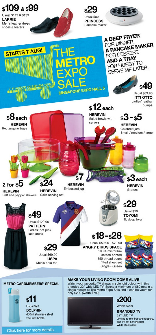 Metro Expo Sale (Till 11 Aug 2013)