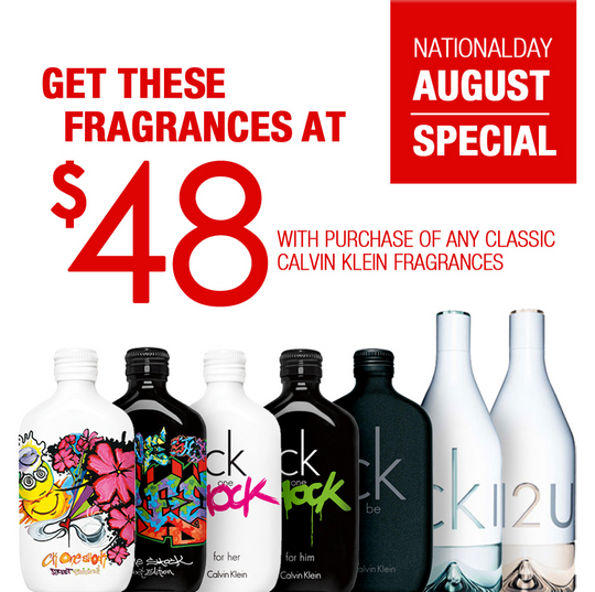 Metro National Day August Special - Buy CK Fragrance @ $48