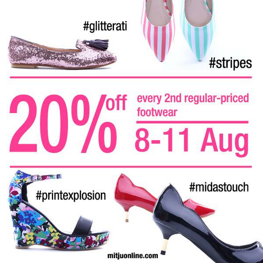 Mitju 20 Off 2nd Footwear Promotion (Till 11 Aug 2013)