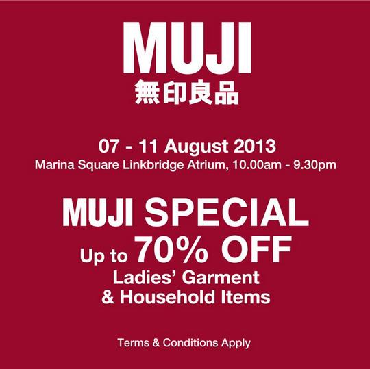 Muji Sale - Up To 70 Off Ladies' Garment & Household