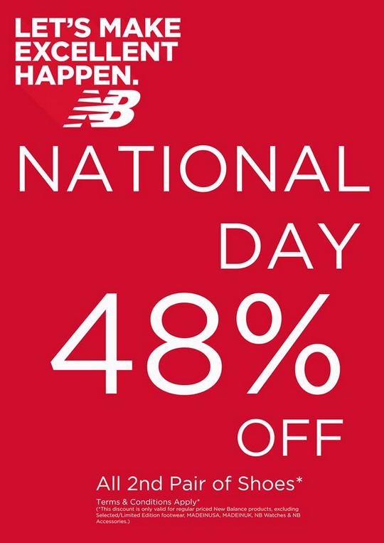 New Balance National Day Sale - 48 Off 2nd Pair Of Shoes