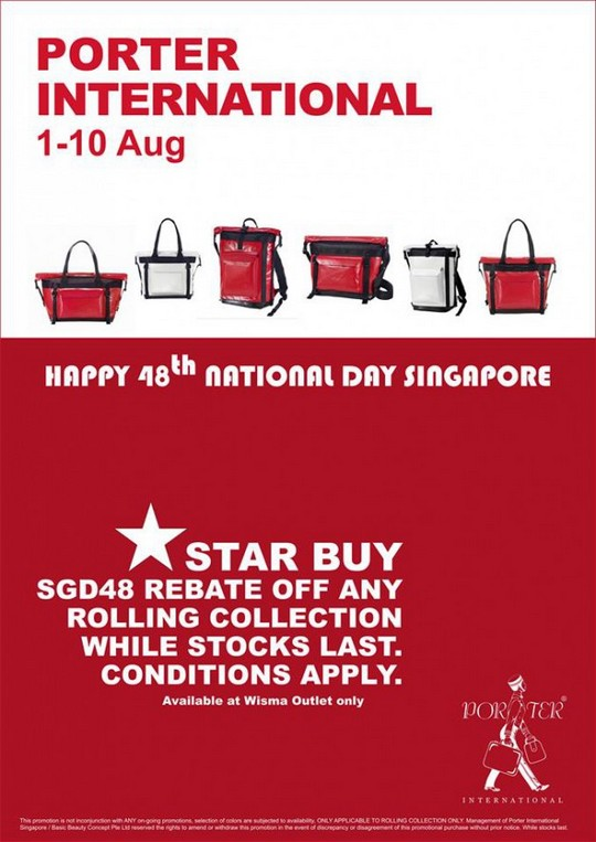 Porter International $48 Off Rolling Collection National Day Promotion