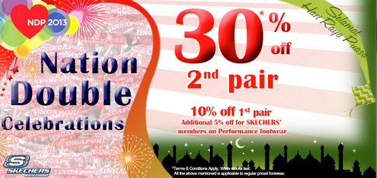 Skechers Nation Double Celebrations Deals (Till 31 Aug 2013)