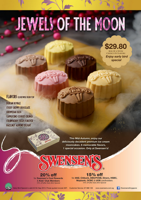 Swensens Ice Cream Moon Cake Early Bird Special