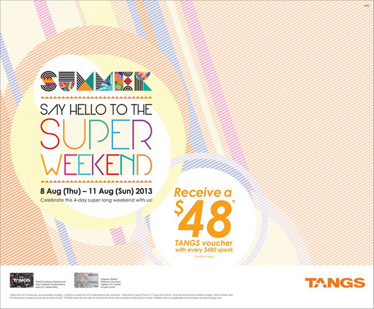 Tangs Super Long Weekend Promotion - $48 Voucher Giveaway
