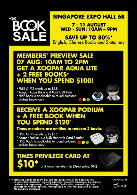 The Book Sale @ Expo (Till 11 Aug 2013)