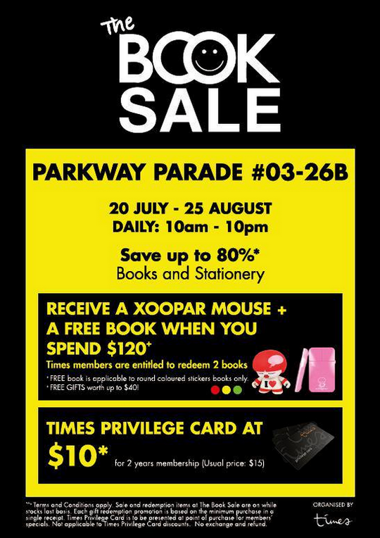 The Book Sale @ Parkway Parade (Till 25 Aug 2013)