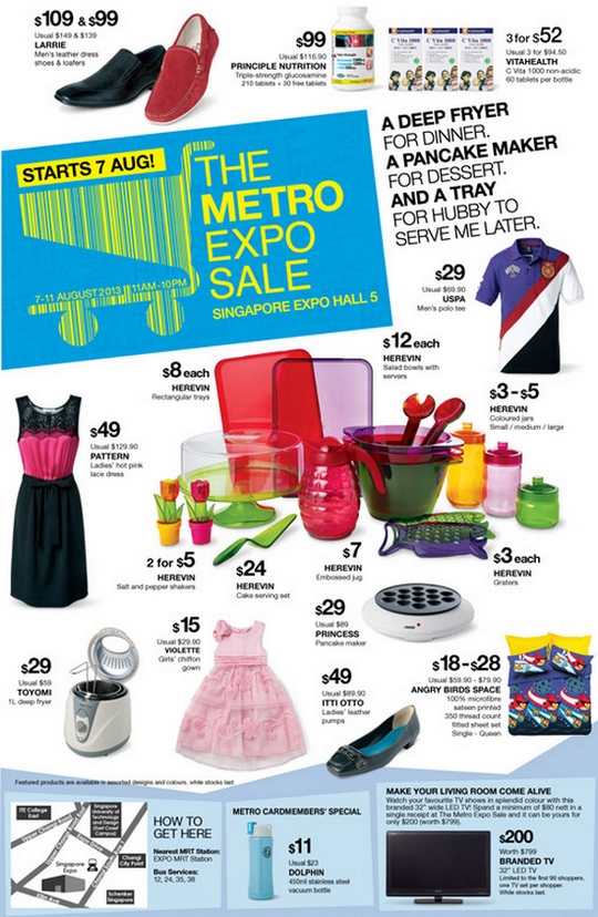The Metro Expo Sale (7 - 11 Aug 2013)