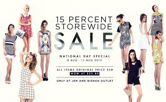 Tracyeinny National Day Storewide Sale - Enjoy 15 Off (Till 11 Aug 2013)